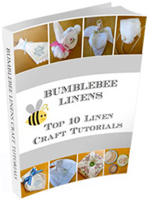 Home decor and crafts with handkerchiefs and linens bumblebee linens receive a free book of crafts junglespirit Images