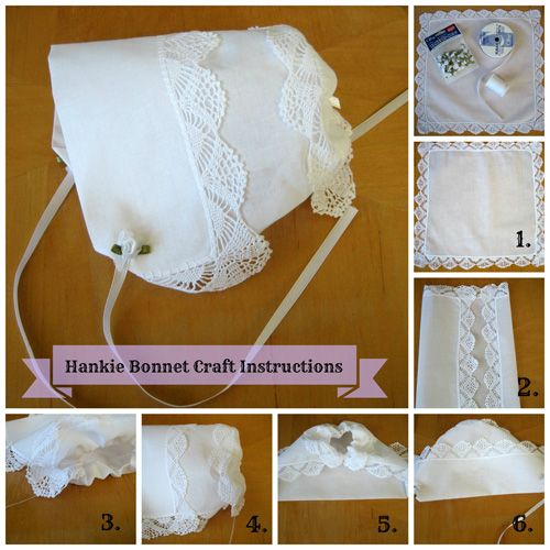 Hankie Bonnet Craft Instructions