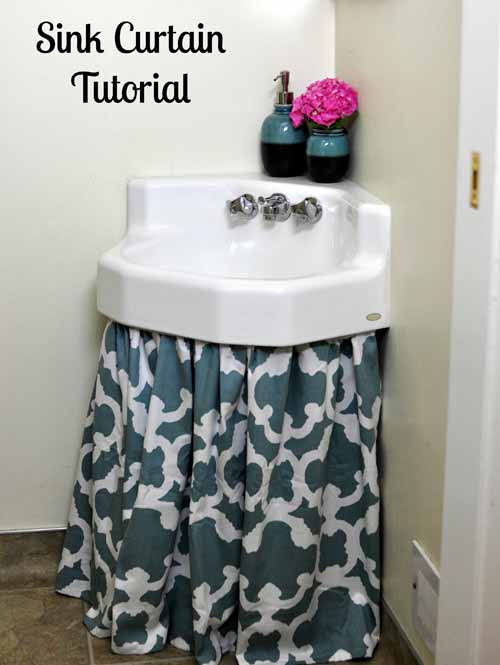 How To Make A Sink Curtain Skirt Easy DIY Tutorial