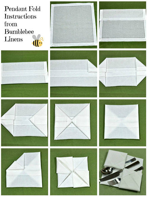 Pendant Fold Napkin Technique Fold Like An Expert