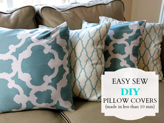 Making Throw Pillow Covers Without Sewing : Quick and Easy Sew Pillow Cover Tutorial Bumblebee Linens