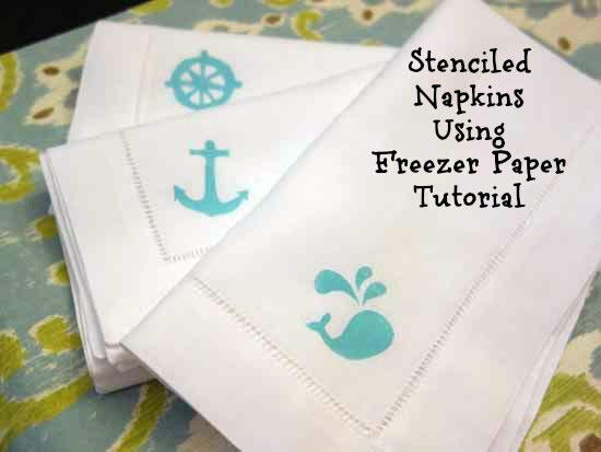 Tutorial: Freezer Paper Stencil Dinner Napkins