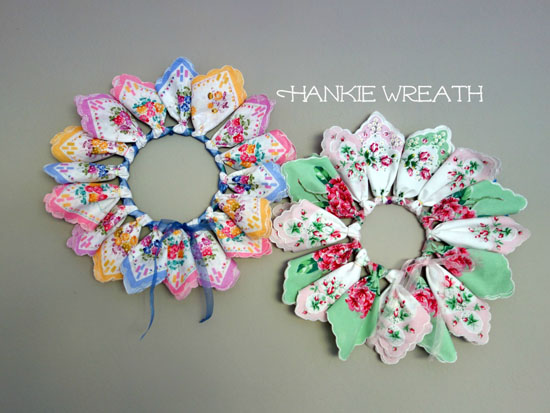 Wreaths Made with Handkerchiefs