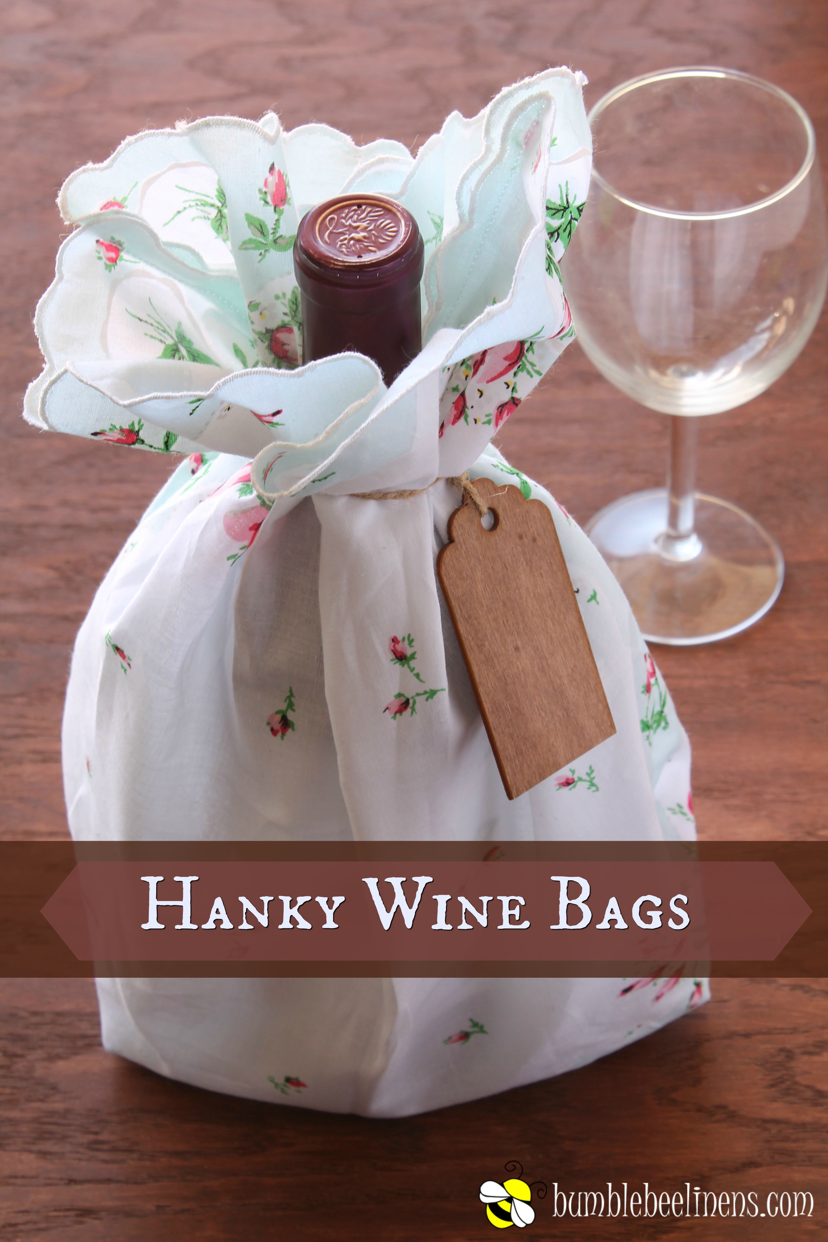 Diy Hanky Wine Bag Tutorial Home Decor And Crafts With