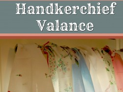 handkerchief valance main with text