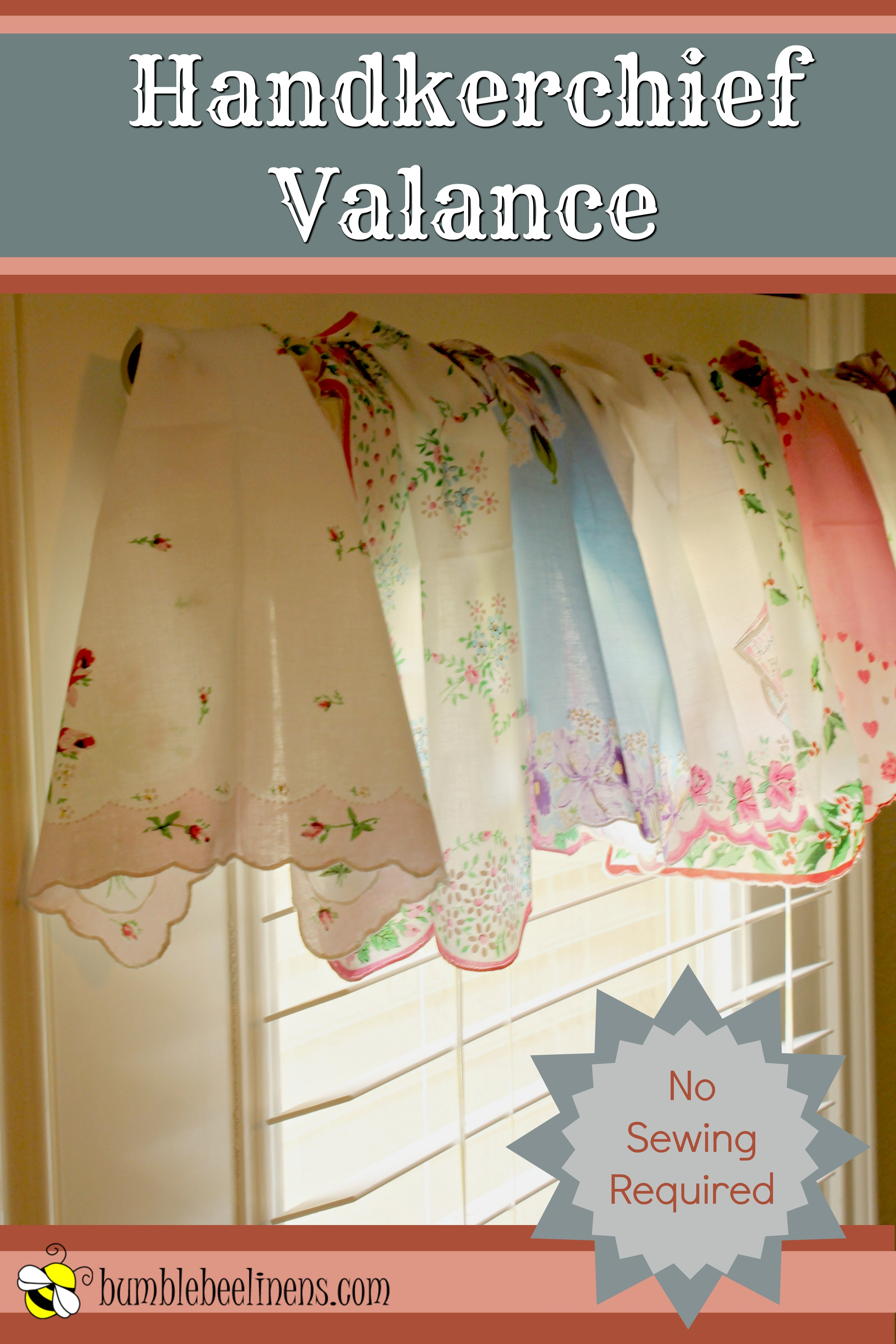handkerchief valance main with text