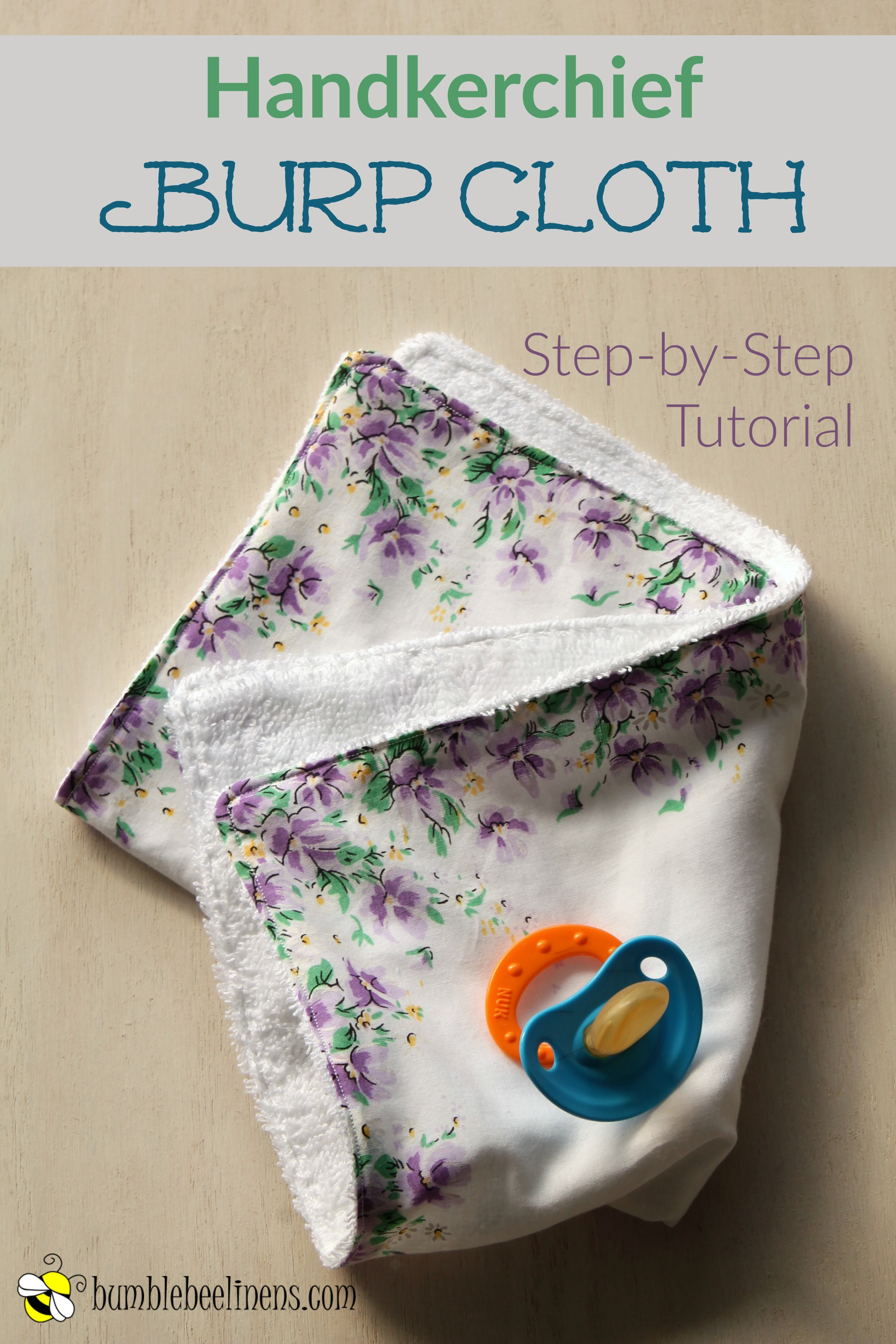 Every mom with a little one will love this adorable hankie burp cloth