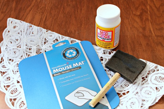 doily mousepad supplies