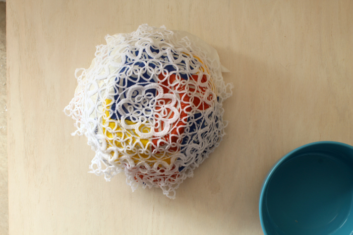 Lace Doily Bowl process 5
