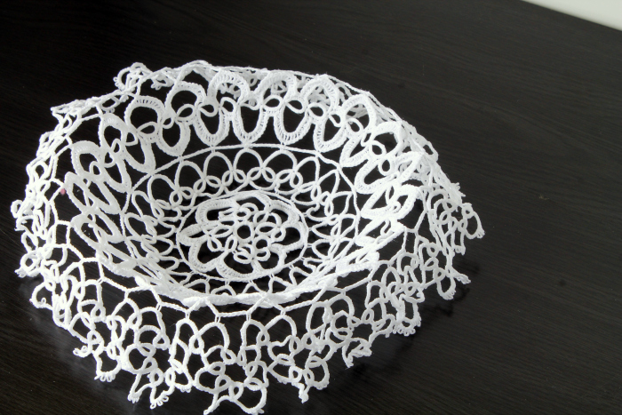 Lace Doily Bowl process 7