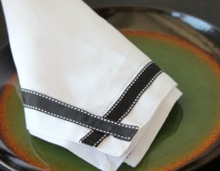 Ribbon Trimmed Napkin Process bottom