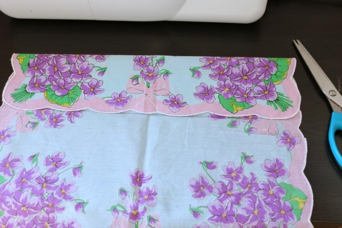 Handkerchief Bib Process 1