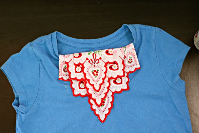 Handkerchief Embellished Tshirt Bottom