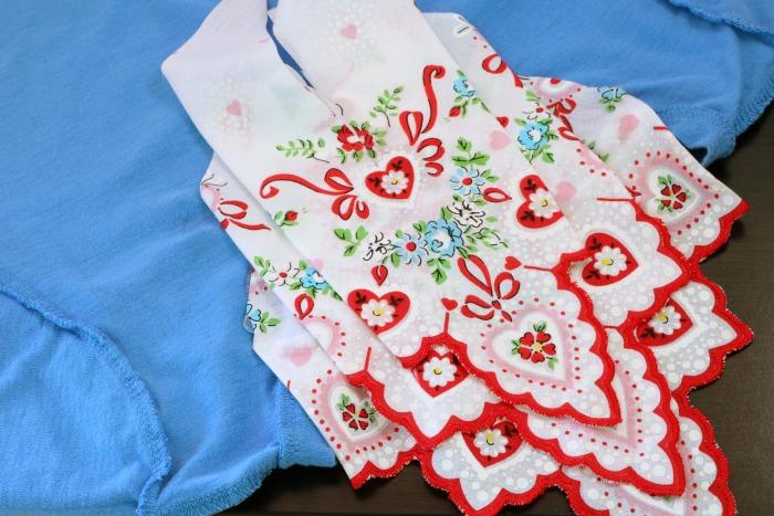 Handkerchief Embellished Tshirt Process 12