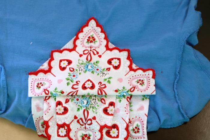 Handkerchief Embellished Tshirt Process 13