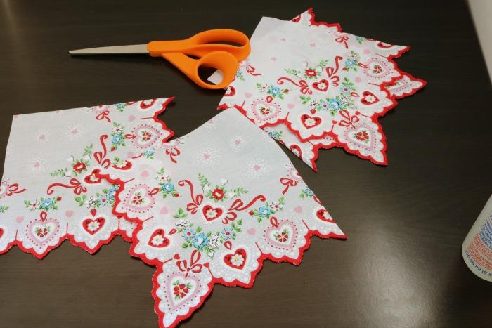 Handkerchief Embellished Tshirt Process 3