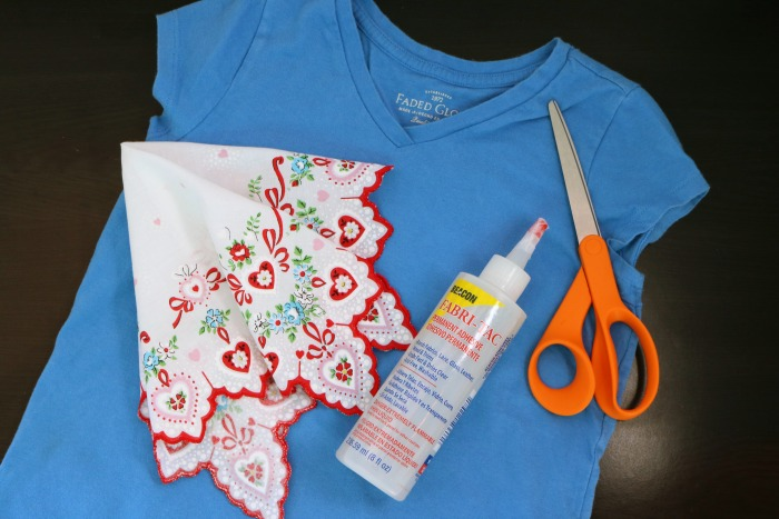 Handkerchief Embellished Tshirt Supplies