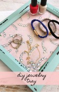 Our DIY Jewelry Tray is easy to make and looks beautiful on your dresser.