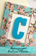Use your beautiful handkerchiefs and turn them into something new like our Decoupaged Picture Frame.
