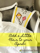 Learn How to Add Flair to an Apron for your little helpers in the kitchen.