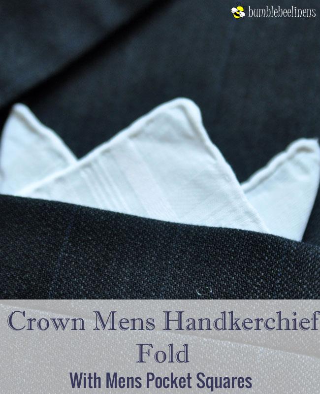 Crown Mens Handkerchief Pocket Square Fold