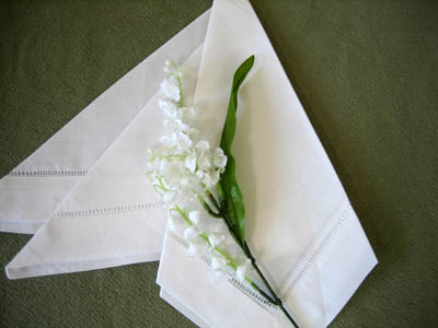 Classic Three Point Napkin Folding Style
