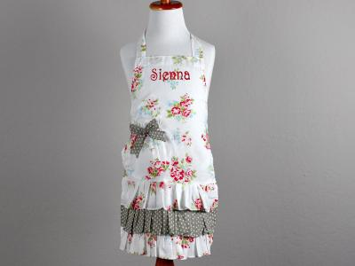 Vintage Inspired Floral Little Girls Apron