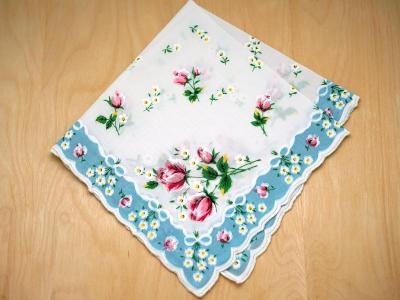 Vintage Inspired Heavenly Print Hankie