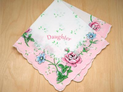 Vintage Inspired Daughter Print Hankie