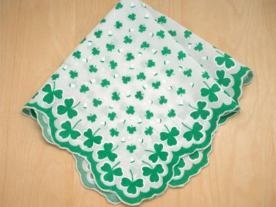 Vintage Inspired Lucky Irish Print Hankie
