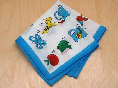 Vintage Inspired Childrens Alphabet Print Hankie