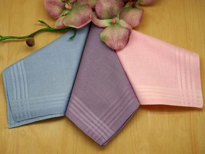 Set of 3 Pastel Colored Ladies Handkerchiefs