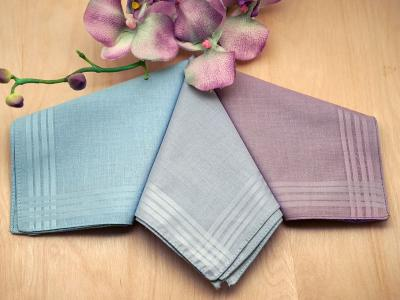 Set of 3 Purple and Blues Ladies Handkerchiefs