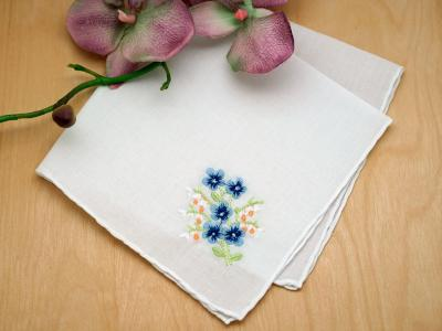 Set of 3 Something Blue Periwinkle Handkerchiefs
