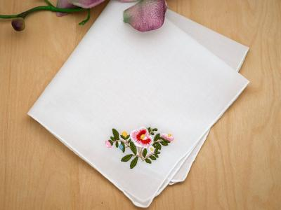 Set of 3 Floral Ladies Hankies