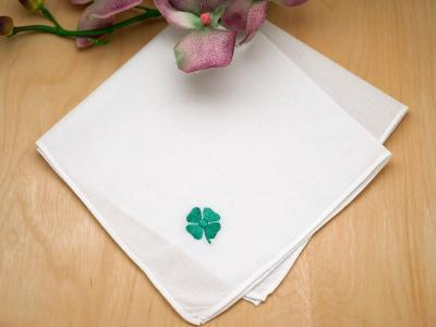 Set of 3 Lucky Shamrock Hankies
