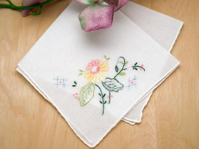 Set of 3 Yellow Dahlia Handkerchiefs