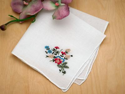 Set of 3 Autumn Floral Ladies Hankies