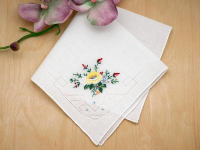 Heirloom Yellow Flowers Handkerchief