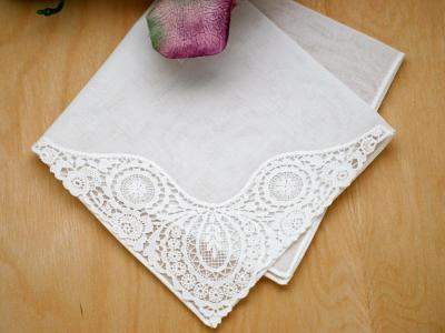Ladies German Guipure Fan Handkerchief