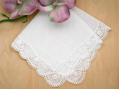 Swiss Sunbeam Guipure Lace Ladies Handkerchief