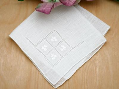 Lucky Irish Linen Embroidered Handkerchief