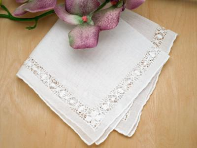 Drawnwork Lace Wedding Bridal Handkerchief