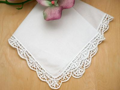 English Garden Lace Ladies Handkerchief