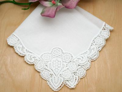 Regal Cluny Lace Wedding Handkerchief