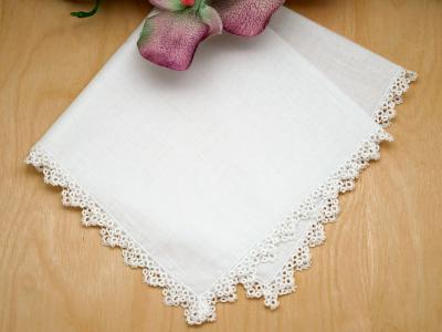 Set of 3 Delicate Bobbin Lace Wedding Handkerchiefs