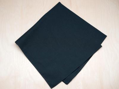 Set of 3 Black Cotton Men's Memorial Handkerchief