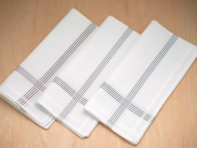 Set of 3 Assorted Striped Mens Handkerchiefs