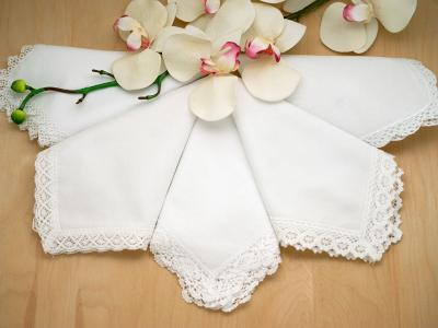 5 Of Our Most Popular White Lace Handkerchiefs