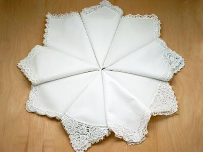 9 Of Our Best Selling Lace Handkerchiefs (Limit 2 Per Customer)
